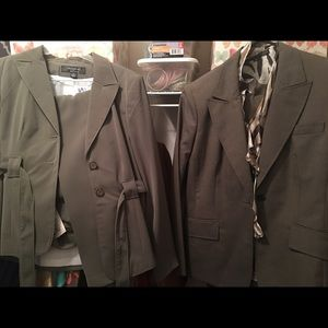 2 suits 1 nwt other nwot and with silk blouse